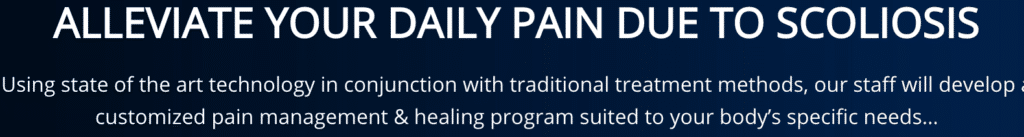Message to Alleviate daily pain due to scoliosis Tacoma Chiropractic